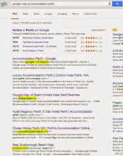 """Photo: All accommodation Perth clients get free linked pins on our Google winning pages for """"google accommodation map perth"""""""