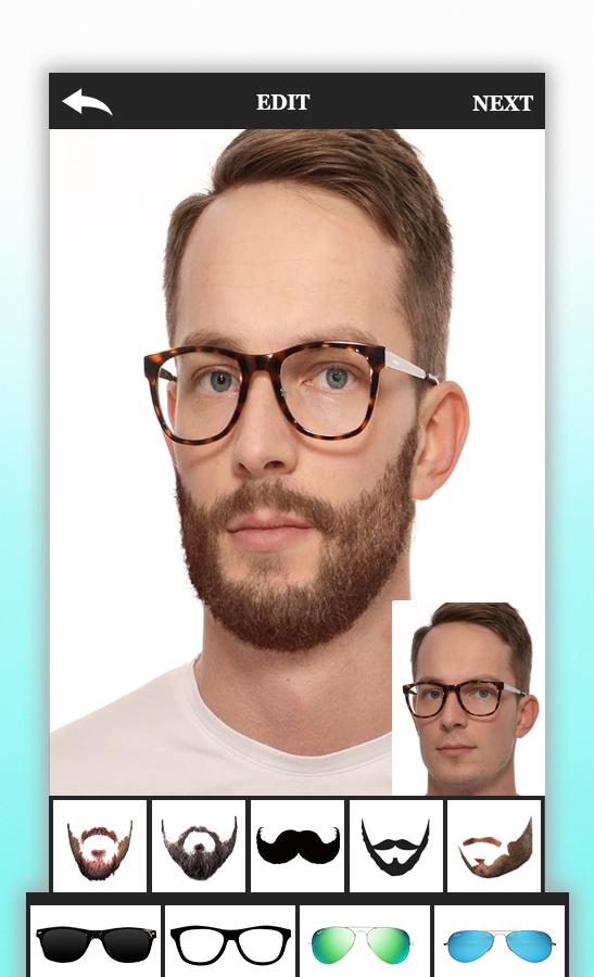Men Beard Photo Editor Boy Hairstyle Salon
