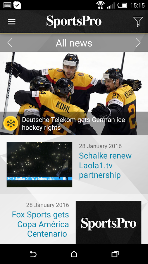 SportsPro- screenshot