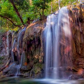 Matajitu by Erry Subhan - Landscapes Waterscapes ( water, sumbawa, west nusa tenggara, indonesia, moyo island, waterfall, rain forest, stone, rock )