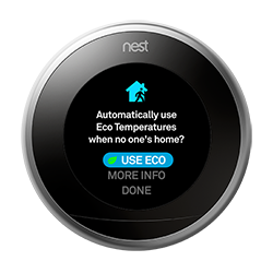 Nest thermostat USE ECO