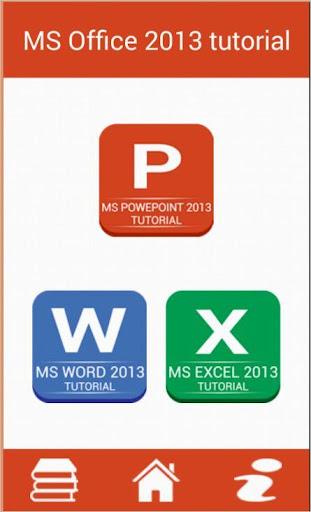 MS office 2013 tutorial
