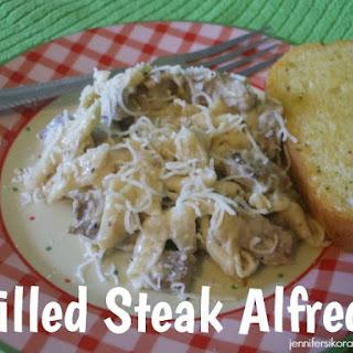 Grilled Steak Alfredo~YUMMY!.