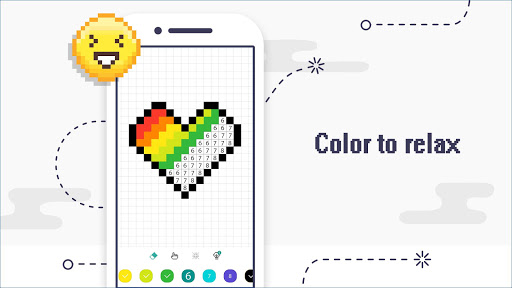 Color by Number - Pixel Art Coloring Book apkpoly screenshots 6