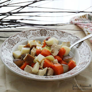 Slow Cooker Hearty Chicken Soup.