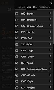 Jaxx Blockchain Wallet - náhled