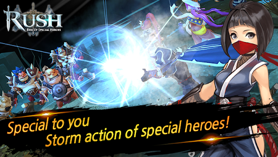 Mod Game RUSH : Rise up special heroes for Android