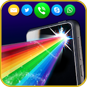 Color flashlight: flash on call && sms alerts