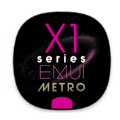 X1S Metro Pinky EMUI 5 Theme (Black) Android APK Download Free By Absoft Studio