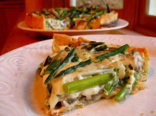 "Asparagus and Mushroom Quiche ""Will be a great addition to those meatless..."
