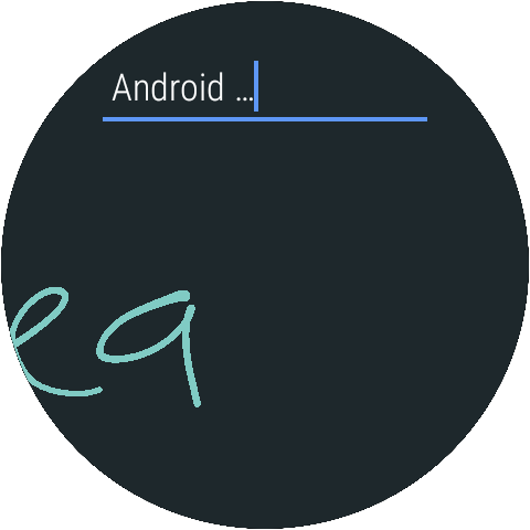 Google Handwriting Input: captura de tela