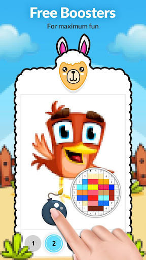 Animal Color by Number Coloring Book - screenshot