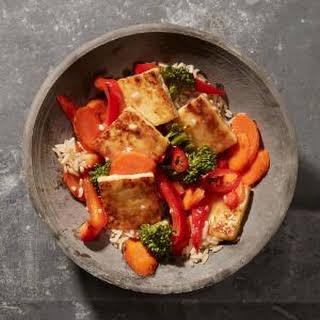 Sweet and Sour Tofu-Vegetable Stir-Fry.