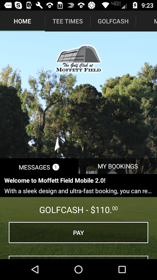 Moffett Field Golf Tee Times- screenshot