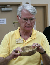 Photo: Gary Nickerson shows a spalted beech bowl  [10.08]