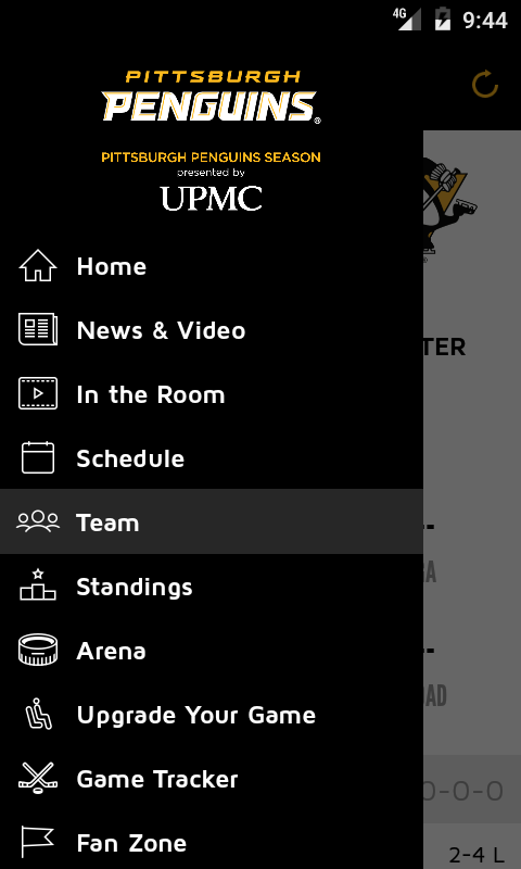 Pittsburgh Penguins Mobile- screenshot