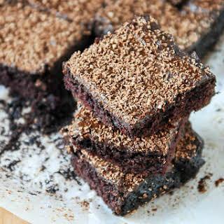 Cocoa Brownies With Chocolate Fudge Frosting [Vegan].
