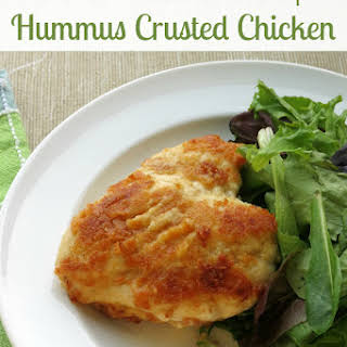 Skillet Hummus Crusted Chicken Breasts.