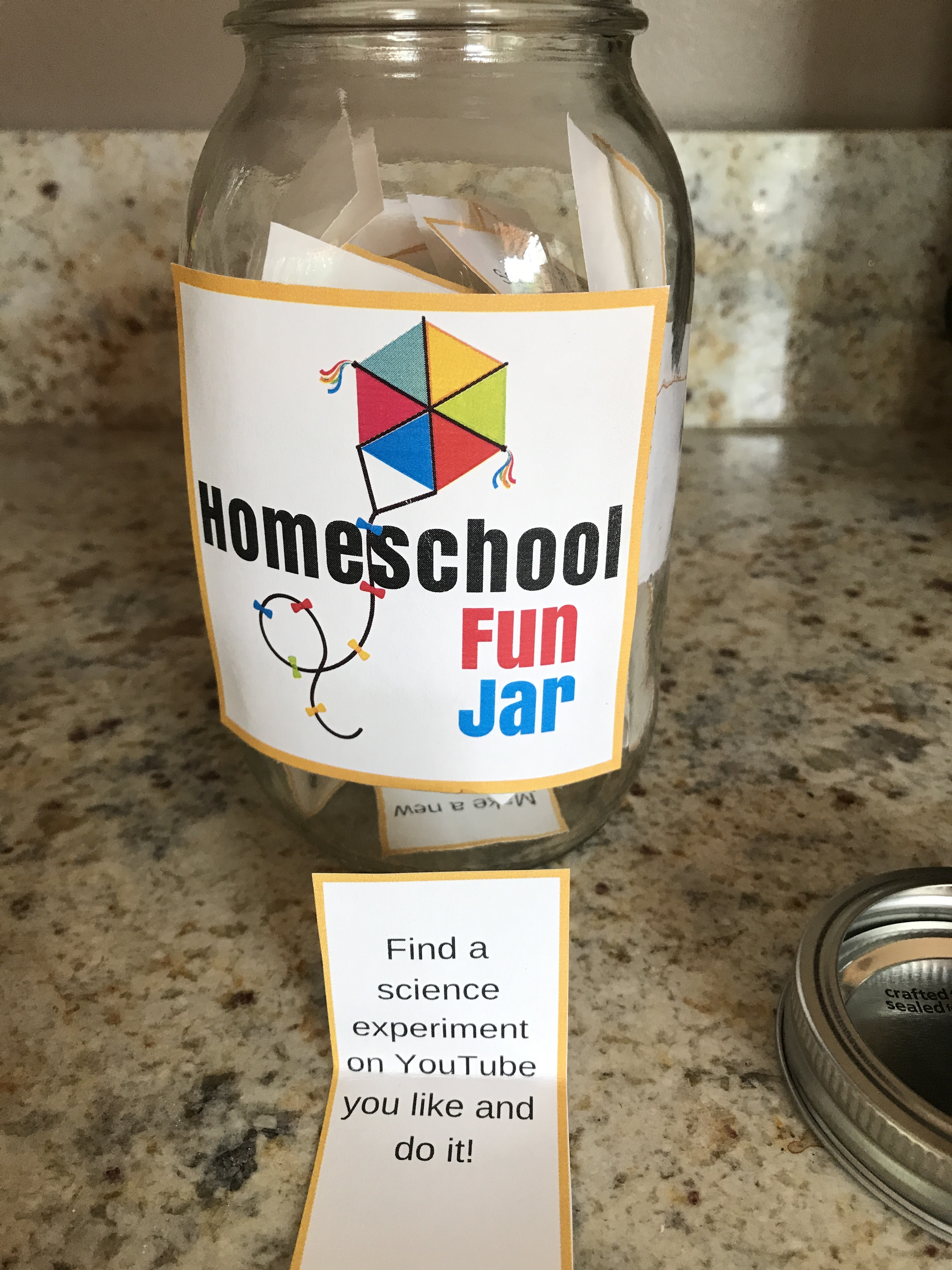 Homeschool Fun Jar printables