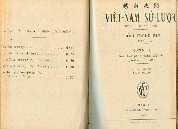 Chúng ta thấy gì, qua những lần Việt Nam Sử Lược được tái bản trong nước?