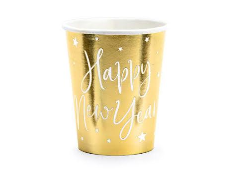 Muggar Happy new year, guld