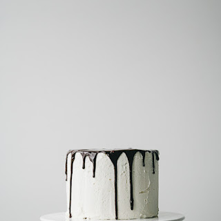 Layered Vanilla Cake with Buttercream Frosting and Chocolate Ganache for WB Magazine Recipe