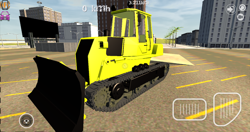 Скриншот Bulldozer Driving Simulator 3D