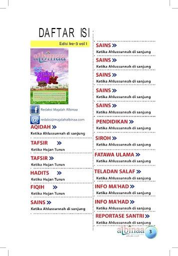 Majalah Albinaa Edisi 3