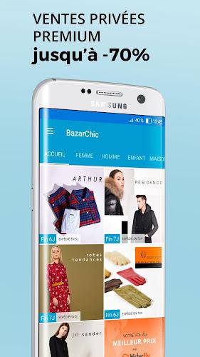 BazarChic, Vente Privée Vêtement & Chaussures Mode Android App Screenshot