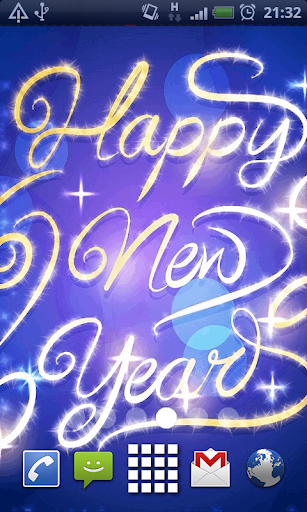 Blue New Years Live Wallpaper