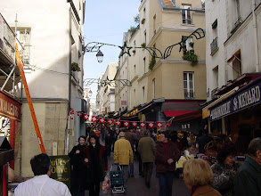 """Photo: Saturday is reserved for some casual touring, such as here at the popular market street La Rue Mouffetard (""""La Mouffe"""" to locals)."""