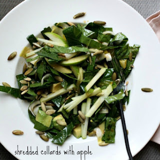 Shredded Collards with Apple