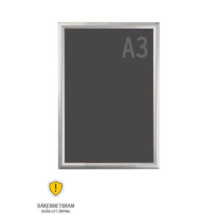 Snäppram, Security frame A3s, 25mm aluminiumprofil