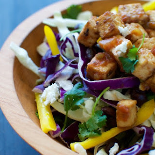 Spicy Slaw with Salsa Roasted Tofu