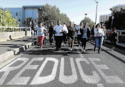 THE ROAD AHEAD: UCT students during last week's #FeesMustFall protests