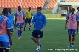 Photo: Coach McKinstry & Amavubi in final training session before game - 13 June 2015  [Training camp ahead of Rwanda Amavubi v Mozambique on 14 June 2015 (Pic © Darren McKinstry / www.johnnymckinstry.com)]
