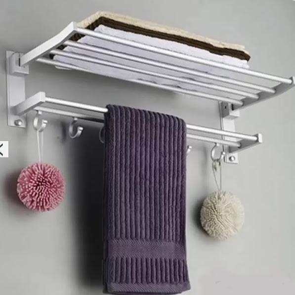 Giá treo khăn và để đồ nhà tắm 2 tầng tiện dụng