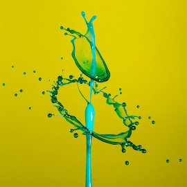 by Eddie Jeffries - Abstract Water Drops & Splashes ( collision, waterdrops, splash water photography )
