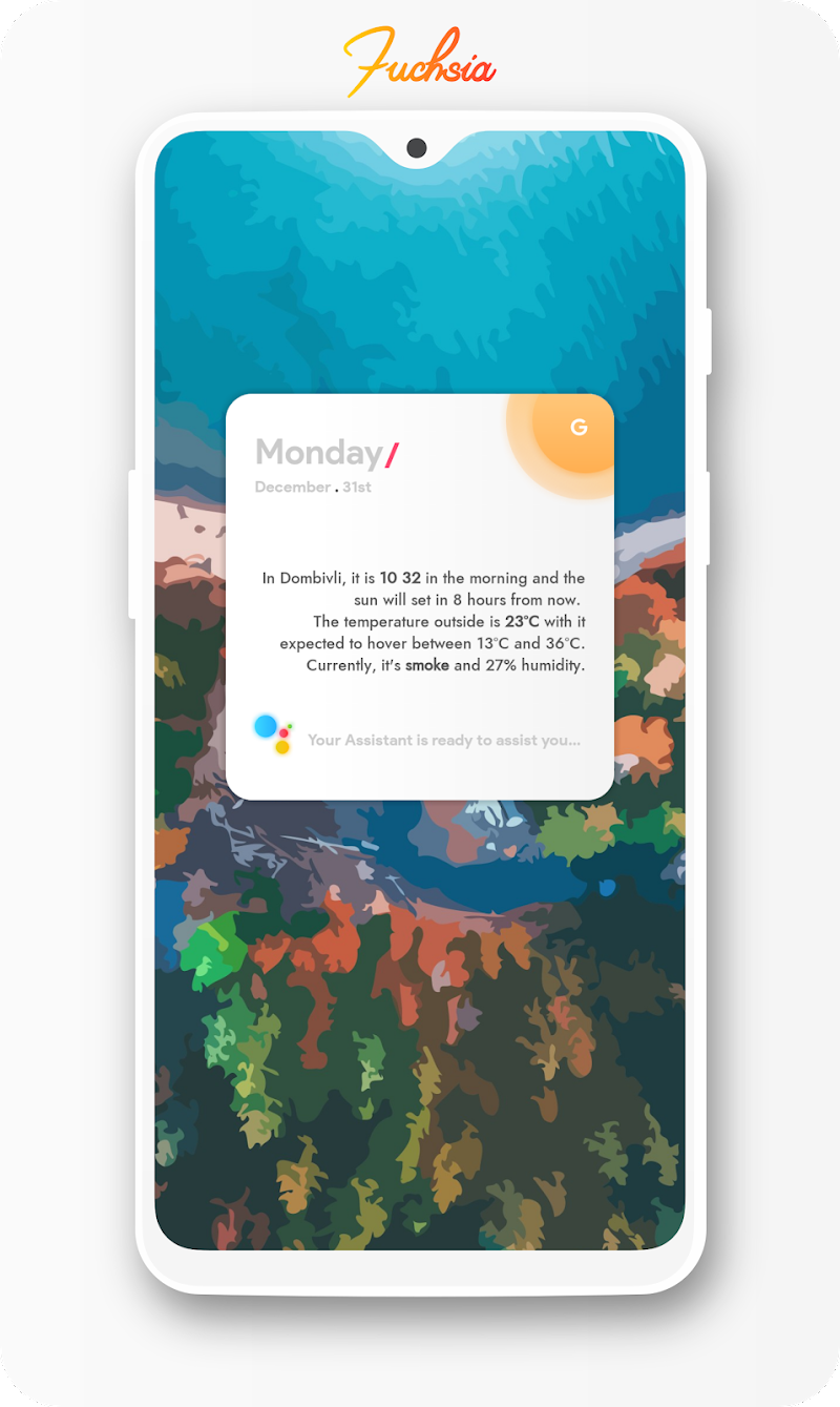 Fuchsia KWGT - Gradient Based Widgets Screenshot 3
