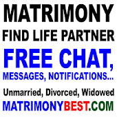 Free Matrimony. Chat, Messages. Find Life Partner
