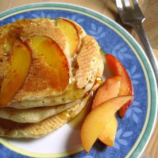 Buttermilk Pancakes with Nectarines