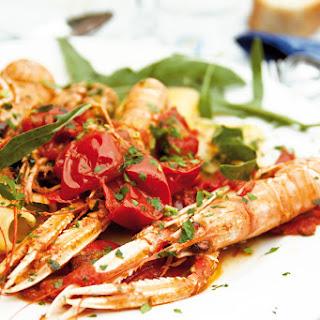 Paccheri gefüllt mit Meeresfrüchten
