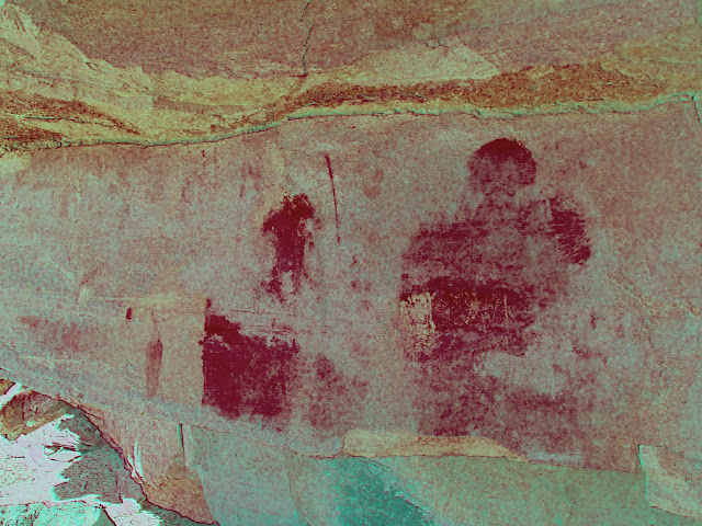 Barrier Canyon Style pictographs? (DStretch-enhanced)