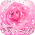 Diamond Pink Rose Theme icon