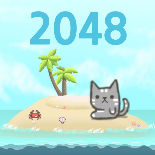 Kitty Cat Island - 2048 Puzzle