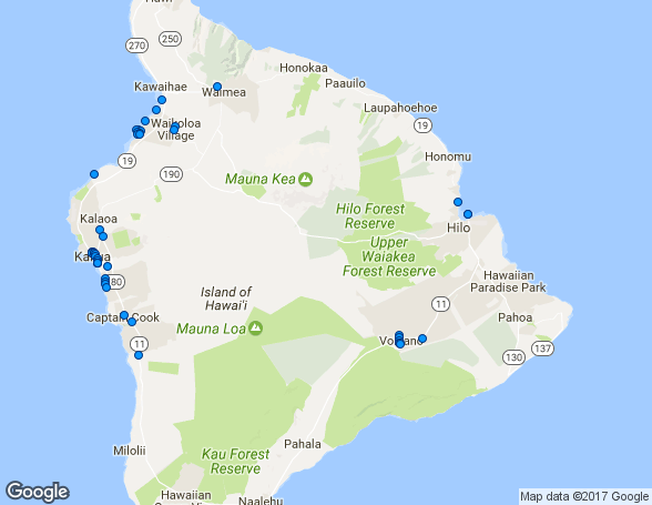 Ilha Grande Havai Map