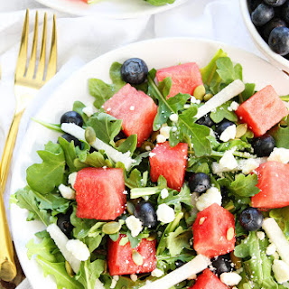 Watermelon, Blueberry, and Jicama Arugula Salad