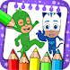pj superhero masks coloring game