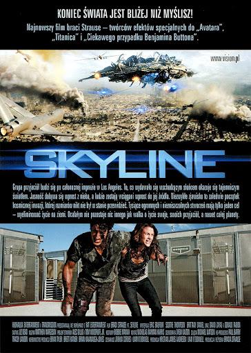 Tył ulotki filmu 'Skyline'