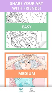 Manga & Anime Coloring Book: Pages For Adults - náhled